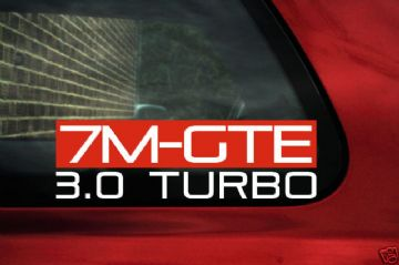 7MGTE 3.0 Turbo sticker / Decal for Toyota Supra mk3 III ,3.0 Turbo